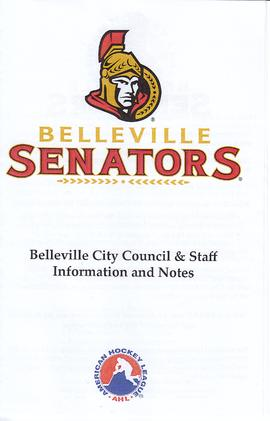 Belleville Senators: notes for City Council and Staff